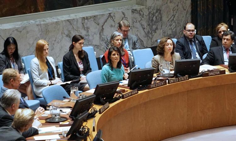 Embajadora Haley en la reunión de emergencia del Consejo de Seguridad de la ONU