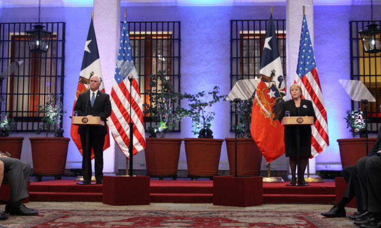 Remarks by the Vice President and President Bachelet of Chile